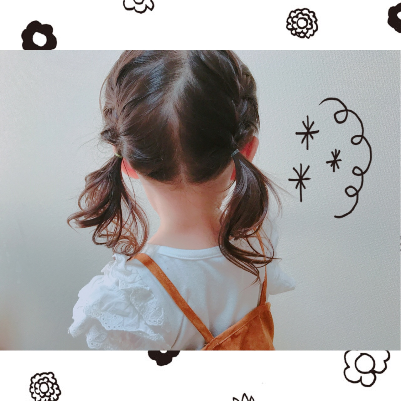 娘ちゃんのヘアアレンジにはまり中 編み込みツインテールで