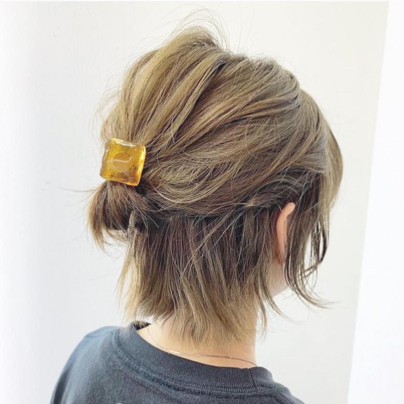 簡単 ショートヘア アレンジ