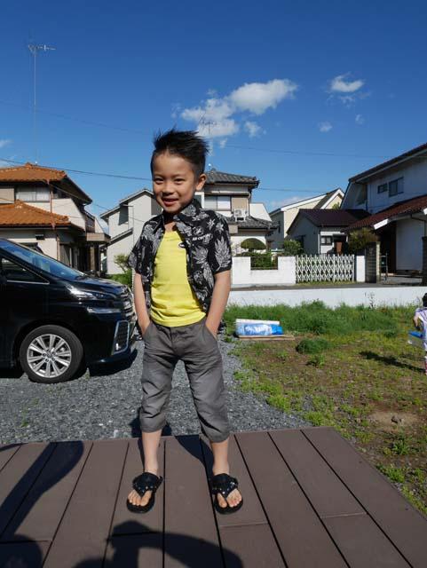 井上雷珠くん(6歳)