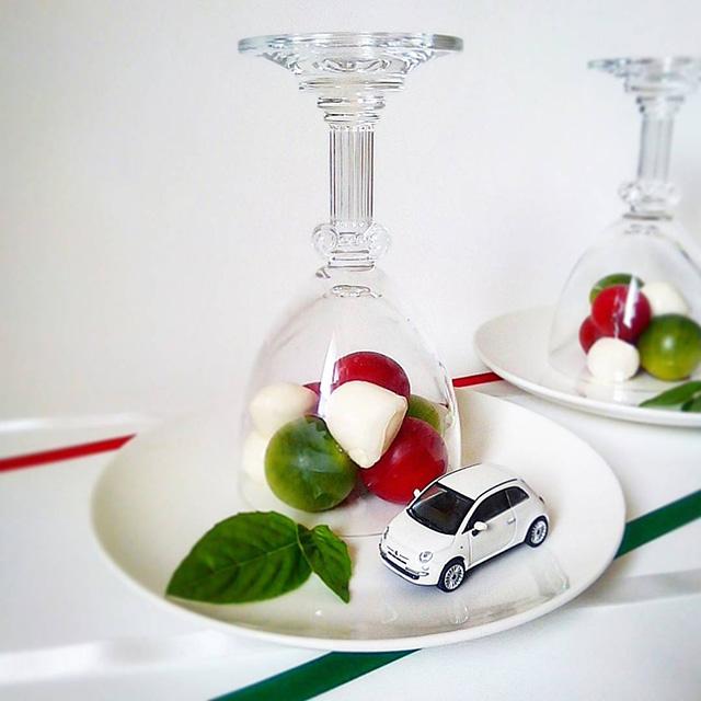 mercia_laさん 「私のFIAT 500 のお誕生日(納車日)だったので、イタリアンカラーのカプレーゼを作ってお祝いしました♪」