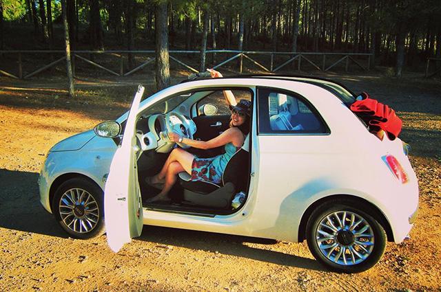 agustinyaiさん 「FIATをオープンにしてドライプへお出かけ♪ 気持ちよくって、空に向かってピースしちゃった!」